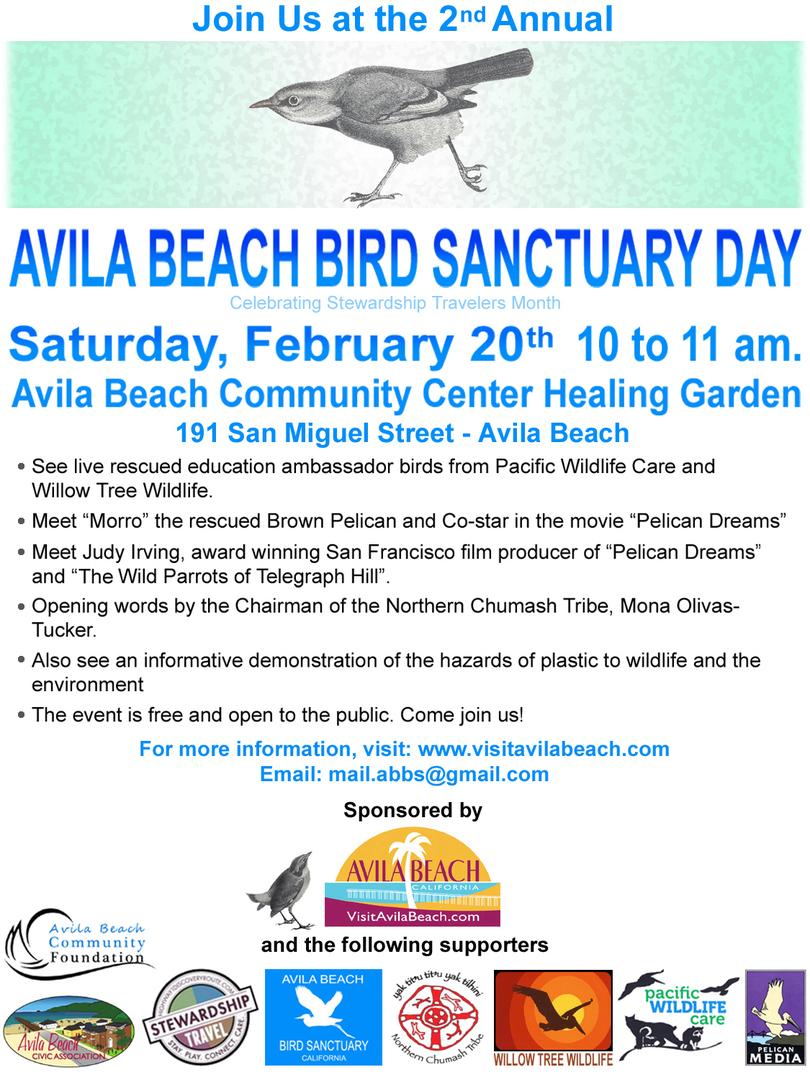Avila Beach Bird Sanctuary Day