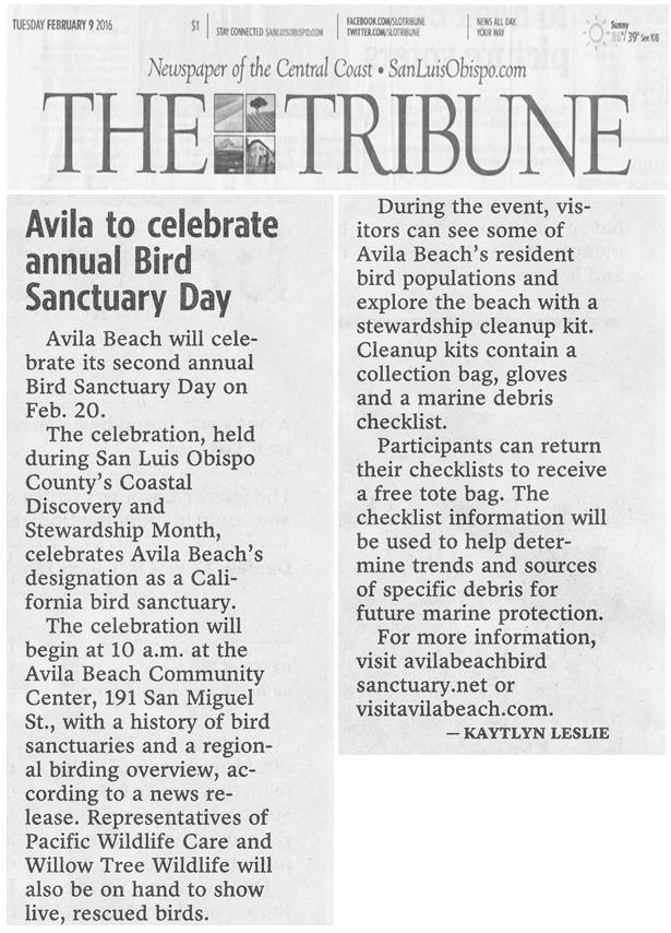 San Luis Obispo Tribune New, February 9, 2016